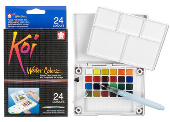 Sakura Koi Pocket Watercolor paint set of 24