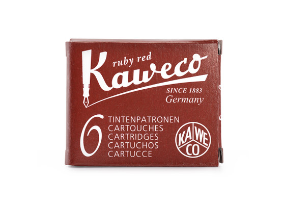 Kaweco Fountain Pen Ink Cartridge Pack of 6 Ruby Red