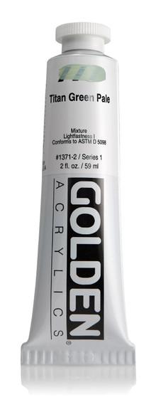 Golden Acrylic Heavy Body 2oz Titan Green Pale