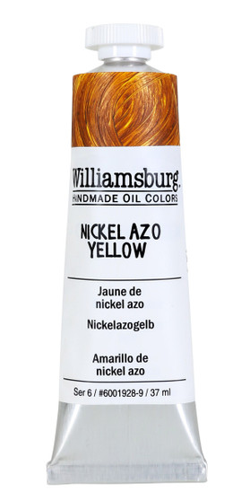 Williamsburg Handmade Oil Paint 37ml Nickel Azo Yellow