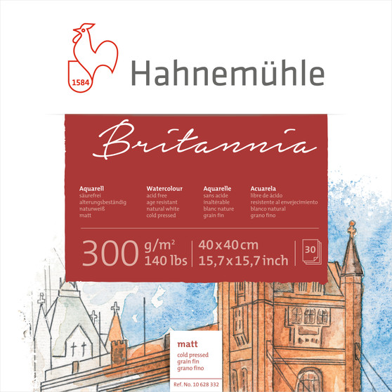 Hahnemuhle Britannia Block Cold Press 15x15 300gsm