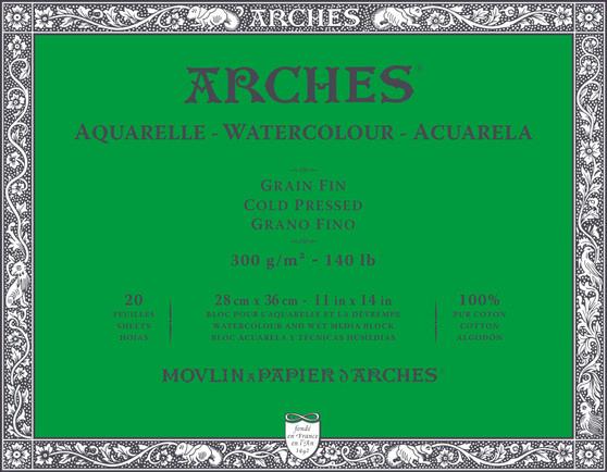 Arches Watercolor Block 140lb Cold Press 11x14