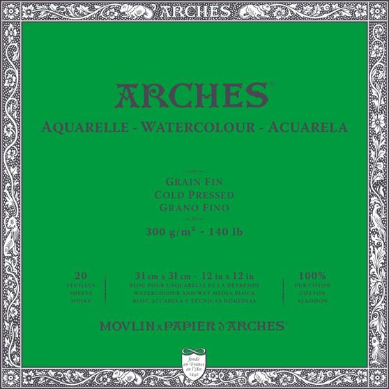 Arches Watercolor Block 140lb Cold Press 12x12
