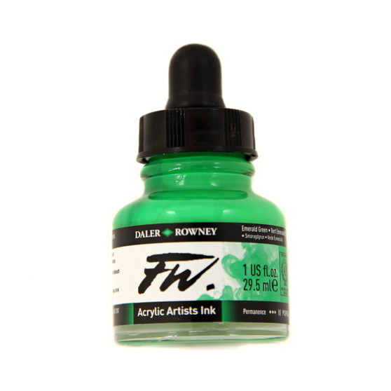 Daler-Rowney Fw Ink 1oz Emerald Green