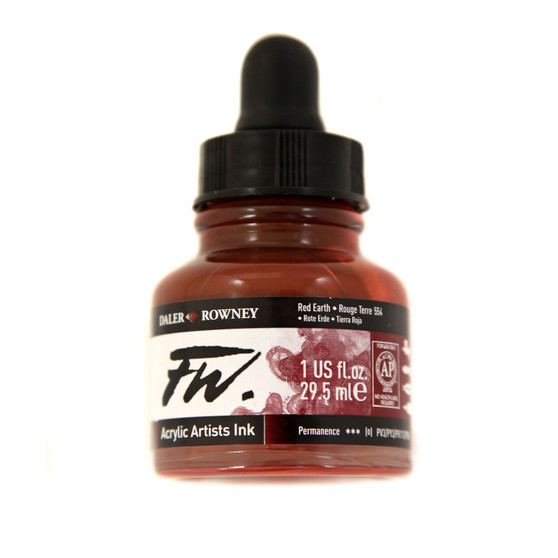 Daler-Rowney Fw Ink 1oz Red Earth