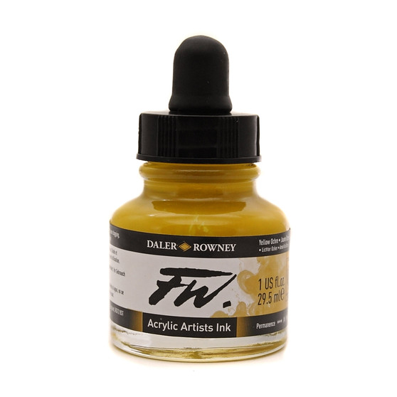Daler-Rowney Fw Ink 1oz Yellow Ochre