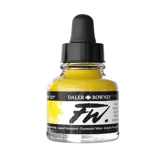 Daler-Rowney Fw Ink 1oz Fluoresecent Yellow