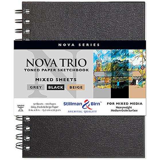 """Stillman & Birn Nova Series Wire-Bound Trio Mixed Sheets Sketchbook 7x10"""""""