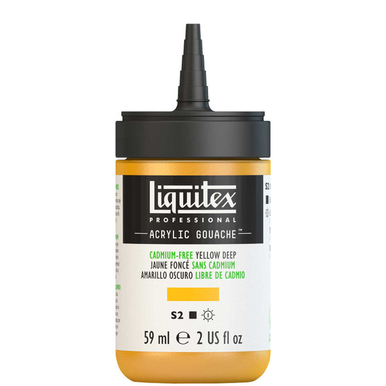 Liquitex Acrylic Gouache 2oz Bottle Cadmium-Free Yellow Deep