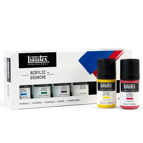 Liquitex Acrylic Gouache Set of 6 Primaries 59ml/2oz