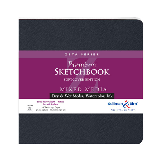 "Stillman & Birn Softcover Sketchbook Zeta Series 180lb 7.5x7.5"" Square"