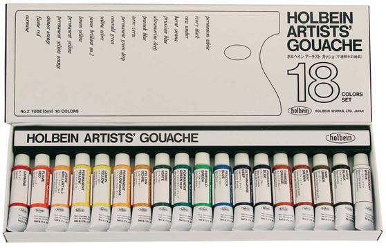 Holbein Artist Designers Gouache 5ml Set of 18