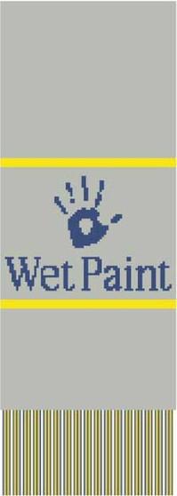 Wet Paint Knit Scarf