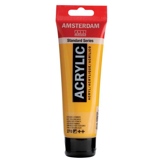 Amsterdam Acrylic 120ml Tube Azo Yellow Deep