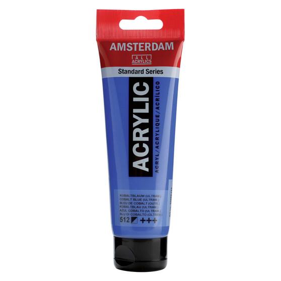 Amsterdam Acrylic 120ml Tube Cobalt Blue Ultra
