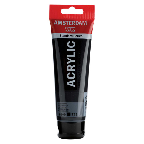 Amsterdam Acrylic 120ml Tube Oxide Black