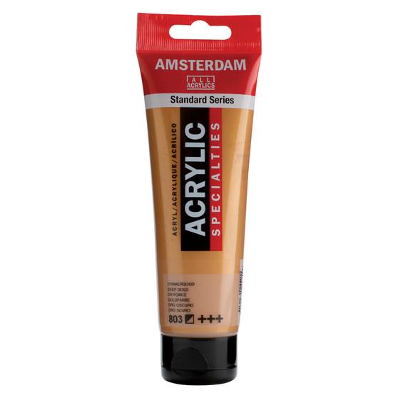 Amsterdam Acrylic 120ml Tube Metallic Deep Gold