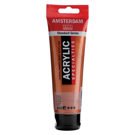 Amsterdam Acrylic 120ml Tube Metallic Copper