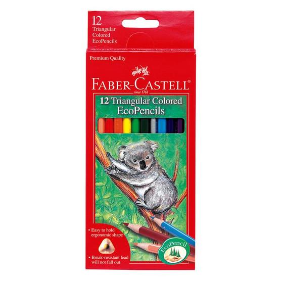 Faber-Castell Triangular Colored EcoPencils 12 Set