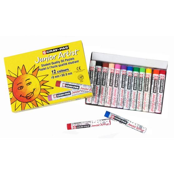 Sakura Cray-Pas Junior Artist Oil Pastels 12 Set