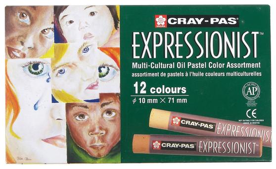 Sakura Cray-Pas Expressionist Oil Pastel Multicultural Set of 12