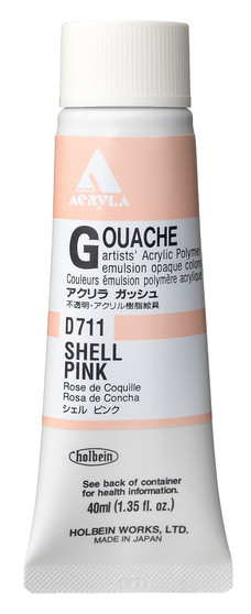 Holbein Acryla Gouache 40ml Shell Pink