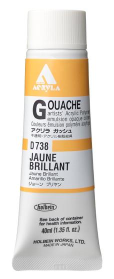 Holbein Acryla Gouache 40ml Jaune Brilliant