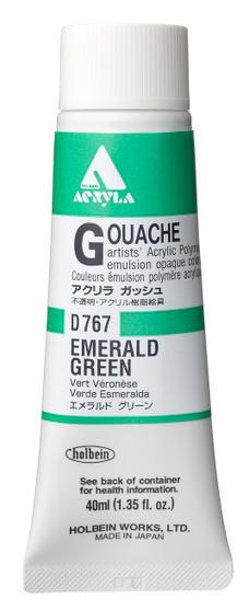 Holbein Acryla Gouache 40ml Emerald Green