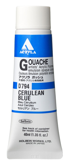 Holbein Acryla Gouache 40ml Cerulean Blue