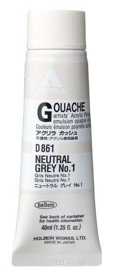 Holbein Acryla Gouache 40ml Neutral Grey #1
