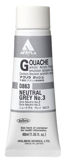 Holbein Acryla Gouache 40ml Neutral Grey #3