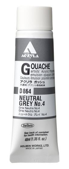 Holbein Acryla Gouache 40ml Neutral Grey #4