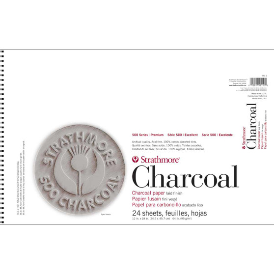 Strathmore 500 Series Charcoal Pad Assorted Colors 12x18