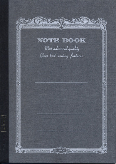 Apica Scroll Lined Notebook 7x10 Black