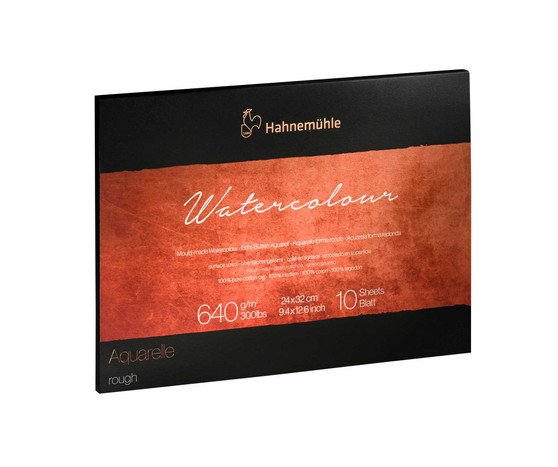 Hahnemuhle The Collection Series Watercolor Block 9.45x12.6in Rough 300lb (640gsm)