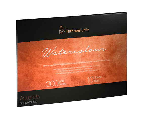 Hahnemuhle The Collection Series Watercolor Block 9.45x12.6in Hot Press 140lb (300gsm)