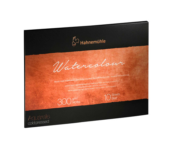 Hahnemuhle The Collection Series Watercolor Block 12x16 Cold Press 140lb (300gsm)