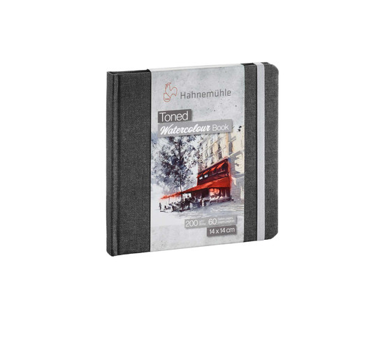 Hahnemuhle Toned Watercolour Book 200g 30 Sheets Square Grey