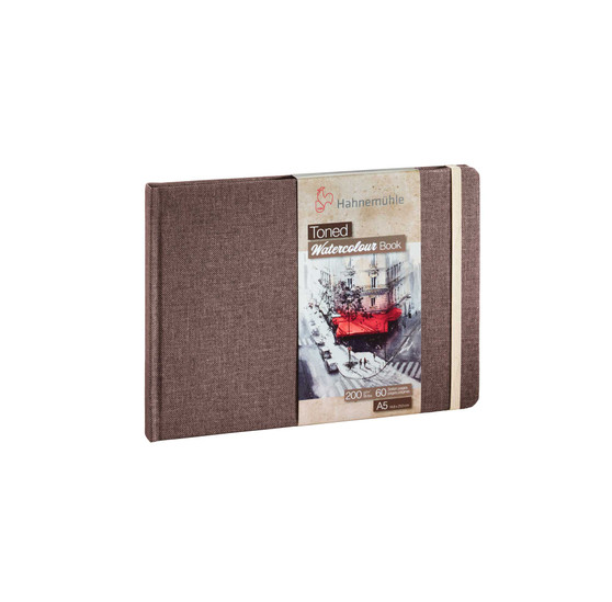 Hahnemuhle Toned Watercolour Book 200g 30 Sheets A5 Beige