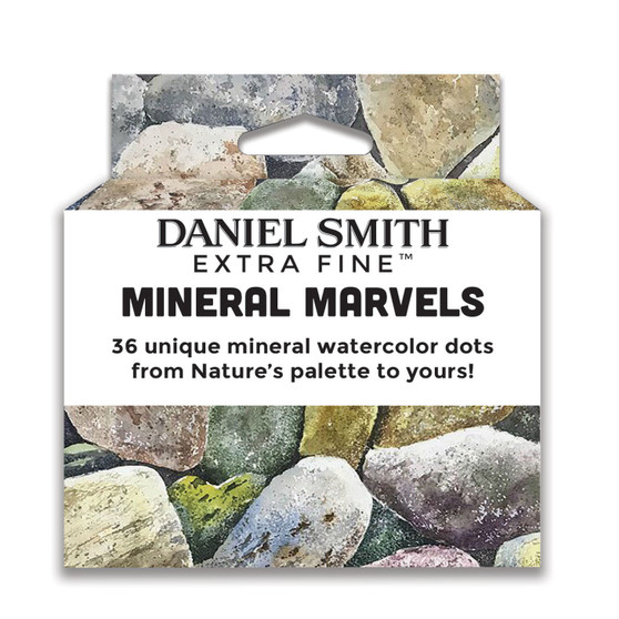Daniel Smith Extra-Fine Watercolor Mineral Marvels 36-Color Dot Cards Pack