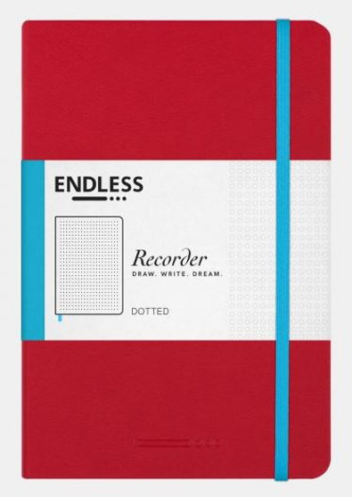 Endless Recorder Notebook Dotted Crimson Sky Red