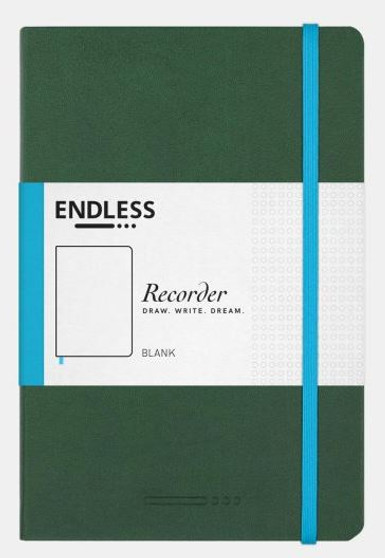 Endless Recorder Journal Blank Forest Canopy Green