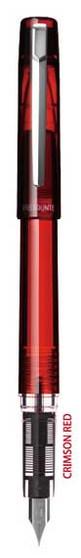 Platinum Prefounte Fountain Pen Crimson Red Fine Nib