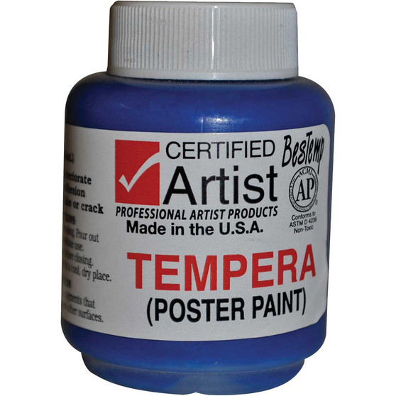 Bestemp Tempera Paint 2oz Blue