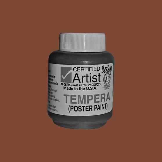 Bestemp Tempera Paint 2oz Brown