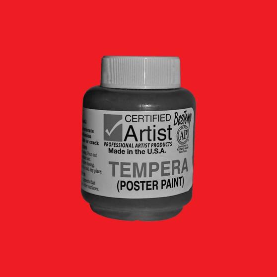 Bestemp Tempera Paint 2oz Red