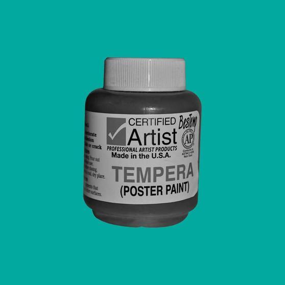 Bestemp Tempera Paint 2oz Turquoise