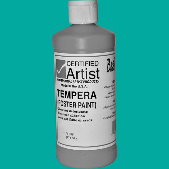 Bestemp Tempera Paint 16oz Turquoise