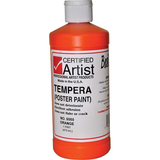 Bestemp Tempera Paint 16oz Orange