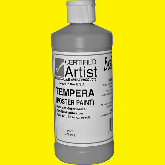 Bestemp Tempera Paint 16oz Yellow